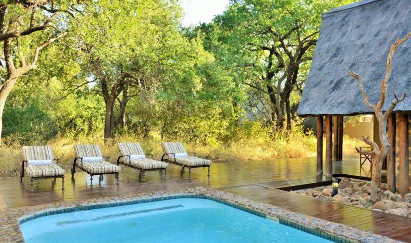 black rhino game lodge pool